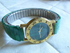 Malachit Damen Armbanduhr, Malachit Uhrenarmband, Stretchband,