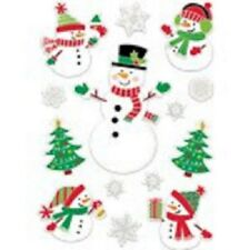 Pack of 14 Reusable Snowman Christmas Window Decorations Stickers