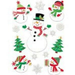 Pack of 28 Reusable Snowman Christmas Window Decorations Stickers