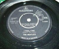 "THE BEATLES I Feel Fine - 7"" VINYL - Parlophone, R5200, UK, 1st Press, 1964 - EX"