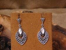 Vintage Sterling Silver Pink Mother of Pearl Earrings