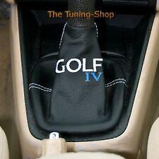 SOUFFLET LEVIER DE VITESSE POUR VW GOLF 98-03 CUIR BRODE GOLF IV BLANC SURPIQURE