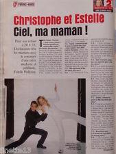 ESTELLE LEFEBURE & CHRISTOPHE DECHAVANNE Coupure de presse 1 page 1999 Clippings