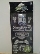 HAMPTON ART LAUGH OUT LOUD CLEAR CLEAR STAMPS SET BIRTHDAY SCO619 BNIP *LOOK*