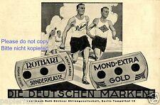 Rasierklinge Rotbart Reklame von 1926 Marathon Läufer Leichtathletik Laufsport