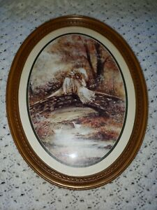 9 x 13 CM and 20 x 25 cm Oval Frame plastic brown glass and rear panel