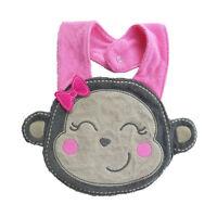 Waterproof Kids Baby Cartoon Lunch Bibs Infant Animal Saliva Towel Bib Monkey