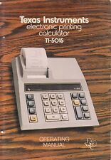 TEXAS INSTRUMENTS OPERATING MANUAL for a TI-5015 PRINTING CALCULATOR