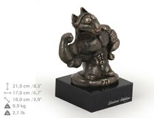 Bull Terrier puissant, statue miniature / buste de chien, limitée, Art Dog FR