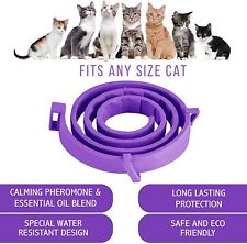 Cat Calming Collar Natural Pheromone Anxiety Relief Size Adjustable Healthy Calm