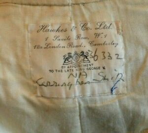Vintage Hawkes & Co 1 Savile Row King George V army trousers size W 31 L 29 rare