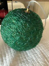Vintage mid century modern green spaghetti light acrylic hanging swag light