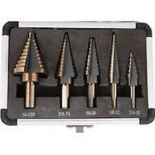 5 pc. HSS SAE Cal-hawk Step Drill set with Aluminum storage Case