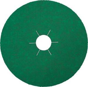 Box of 25 FIBRE DISC Ceramic 125mm 5inch 60 Grit Sanding Discs Klingspor FS966