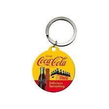 Nostalgic Art Schlüsselanhänger rund 4cm Coca Cola Delicious Refreshing *