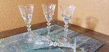 """4 Libbey Rock Sharpe 2006-2 Claret Wine Glasses Goblets 6 3/4"""""""