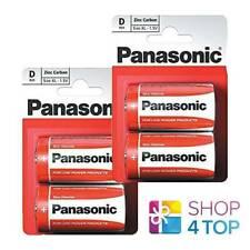 4 PANASONIC ZINC CARBON D LR20 BATTERIES  BLISTER 1.5V MONO MN1300 AM1 E95 NEW