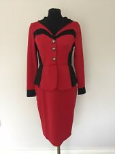 Red Peplum Dress Size L (14)
