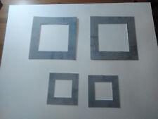 """4 passes partouts à motifs ,gris """"lunaire"""" ext  : 30x30 cm et 18x18 cm"""