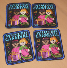 """Girl Scouts Patch """"Winter Carnival""""  Badge Lot of 4 Colorful Singing, Gifts Xmas"""