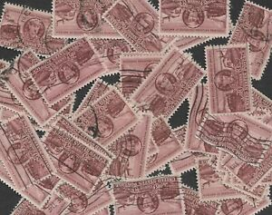 Postage Stamps For Crafting: 1950 3c Casey Jones & Trains; Brown; 50 Copies