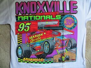 1995 Knoxville Nationals World of Outlaws Sprint Car Shirt XL NEW
