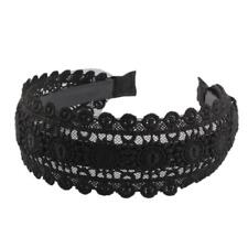 Gothic Lace Wide Headband Women Ladies Hair Band Alice Band Hair Accessories