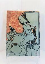 Linocut Carved Artist Original Linoleum Block Wood Mount Master Grumbacher 9x12