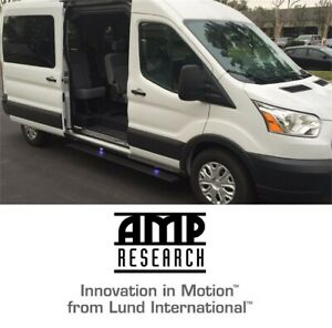 Amp Research Plug-n-Play Running Board Power Steps for 14-18 Ford Transit Van