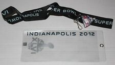Super Bowl XLVI Indianapolis Ticket Holder, Lanyard, and I was There Pin