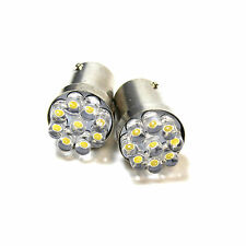 2x Warm White 9-LED [BA15D,1142] 12v Light Bulbs
