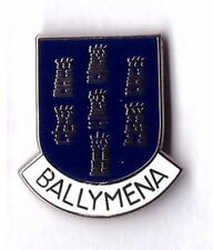 BALLYMENA lapel badge northern ireland county antrim SEVEN TOWERS