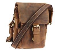 Greenburry Umhängetasche Braun 20x15x7 cm Ledertasche Handtasche Tasche