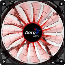 AEROCOOL SHARK 140mm Orange 12V Case Fan Fluid Bearing 15 Blades 96.5 CFM [f33]