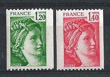 France 1980 N° 2103 Et 2104 Sabine Roulette