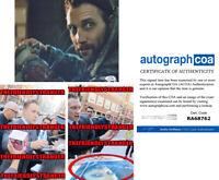 """JAI COURTNEY signed """"SUICIDE SQUAD"""" 8X10 PHOTO c EXACT PROOF Boomerang ACOA COA"""