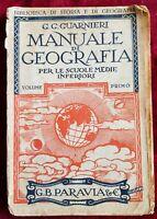LIBRO BOOK MUANUALE DI GEOGRAFIA GUARNIERI VOL. 1 PARAVIA  GAT1