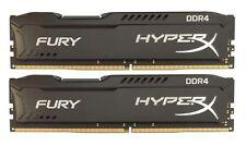 Kingston 8GB-2 x 4GB-PC4-21300 2666MHz DDR4 NonECC RAM15-15-15 HyperX Fury Black