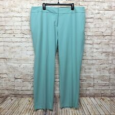 Vince Camuto Womens Pants Plus Size 20W Straight Ankle Stretch Solid Mint Green