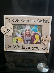 Personalised Best Aunty Best Uncle Auntie Photo Picture Frame Gift..
