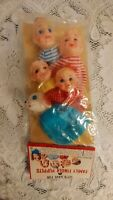 Vintage Toys Family Finger Puppets Lot of 5 ~ 1950's - 60's In Original Package