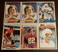 Roger Wehrli HOF NICE 6 CARD LOT 1975-1980 Topps St. Louis Cardinals / Missouri
