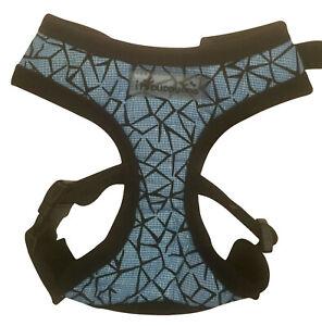 Dog Puppy Soft Harness - iPuppyone - Shatter Flex Adjust Neck Chest - Blue S, L