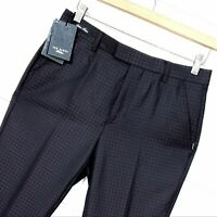 Mens TED BAKER Rafaelt wool Silk cashmere slim fit houndstooth trousers size 30R