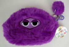 NEW WITH TAGS FLUFFLES Pouch and Keychain Holder Color Purple KIDS  838157006145