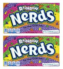 2x Rainbow Nerds Crunchy Candy Theater Box 141.7g American Sweets