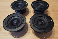 4x neue Hi-Fi Lautsprecher Breitband / Mitteltöner /Hochtöner new Loudspeaker