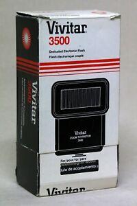 Vivitar 3500 Flash with Canon Hotshoe Module - Boxed & Hardly Used