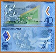 Solomon Islands, $40, 2018, P-New POLYMER, UNC > Commemorative, X/1 REPLACEMENT