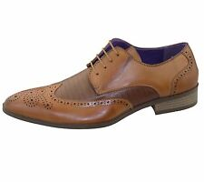 Mens Brogue Shoes Office Wedding Casual Formal Smart Dress Shoes New Size